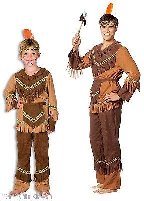 Indianer Herren Kinder Junge Apache Wilder Westen Kostüm Anzug -