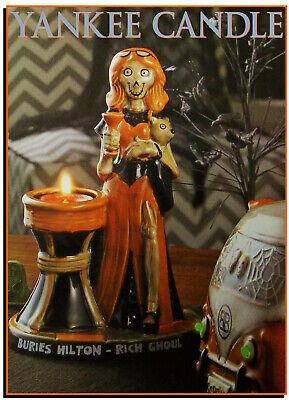 Yankee Candle BONEY BUNCH Buries Hilton Tea Light Holder Halloween NEW
