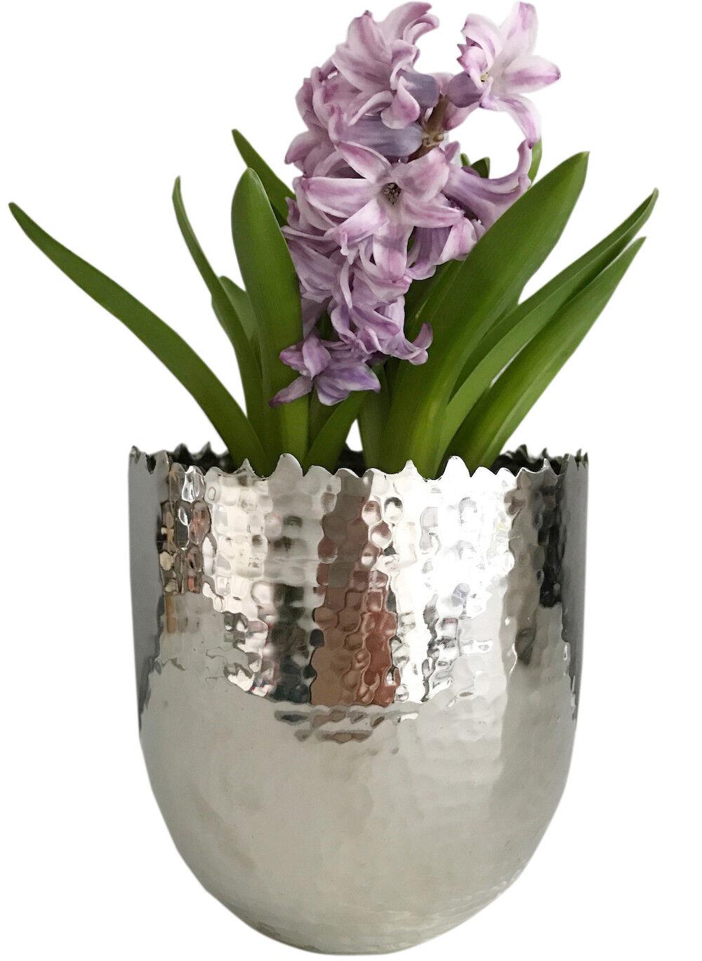 Edelstahl Blumentopf übertopf Blumen Pflanzkübel