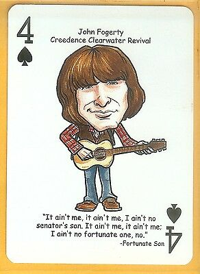 John Fogerty Ccr Creedence Clearwater R R Hall Of Fame Single Swap Playing Card