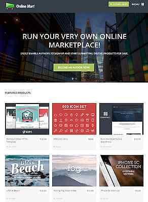 Online Digital Marketplace Website For Sale