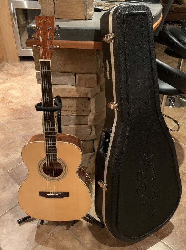 Zager Easy Play ZAD50 OM Size Acoustic Natural Guitar