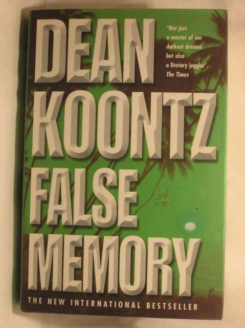False Memory, Koontz, Dean, Very Good Book