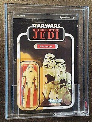 Vintage Star Wars Stormtrooper MOC Graded by UKG 80% ROTJ Kenner 77-A BK 1983