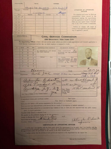 1942 Black Dentist Appointed as Brooklyn Jail Cleaner