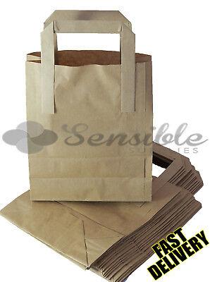 2000 X SMALL BROWN KRAFT PAPER SOS BAGS 7X3.5X8.5