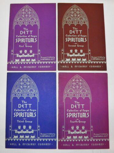 1936 NEGRO SPIRITUALS Antique COMPLETE SET 1st Ed 1st Prt BLACK AMERICANA MUSIC