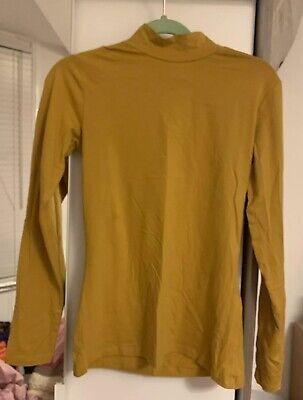 Ladies Asos Jacqueline De Yong Brand New Dark Mustard Size M Turtle Neck Top