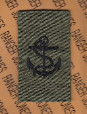 "UK GB British Royal Navy Seaman 3.75"" uniform sleeve epulet patch"
