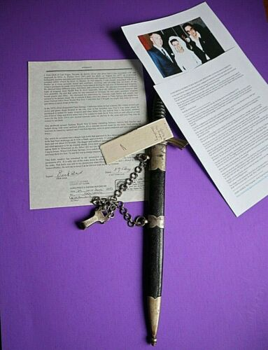 ELVIS PRESLEY PERSONALLY OWNED DAGGER KNIFE MADE BY ALCOSO SOLINGEN SIGNED LOA