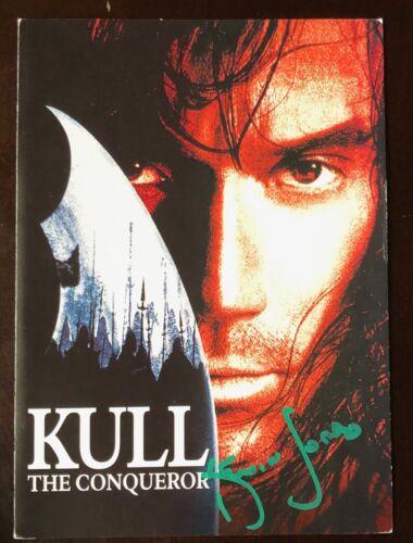 SUPER RARE Kull the Conqueror KEVIN SORBO SIGNED TWICE Premiere Invite