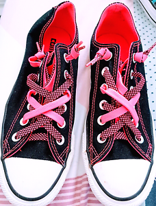 Converse All Stars pink and black Arncliffe Rockdale Area Preview