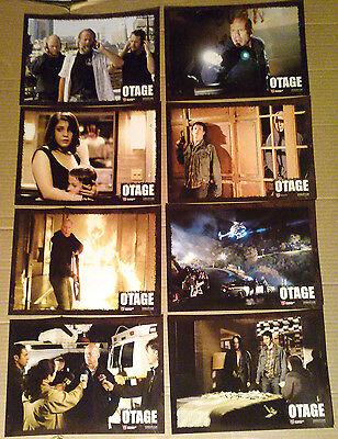 Lobby Card Set~ HOSTAGE ~Bruce Willis ~Ben Foster~Michelle Horn ~Jonathan Tucker