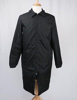 Acne Studios Mens Black Malte Tech Nylon Long Coat EU 46 US Small Medium $495