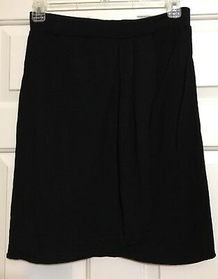 Women's CAbi size S black faux wrap skirt elastic waist for sale  Clinton