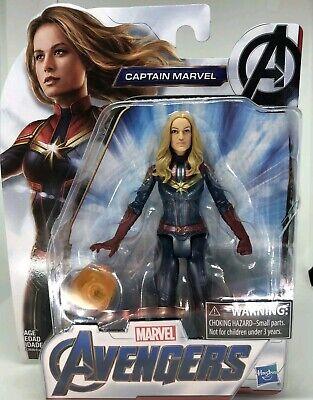 Marvel Avengers: Endgame CAPTAIN MARVEL Figure With Weapon CAROL DANVERS Hasbro