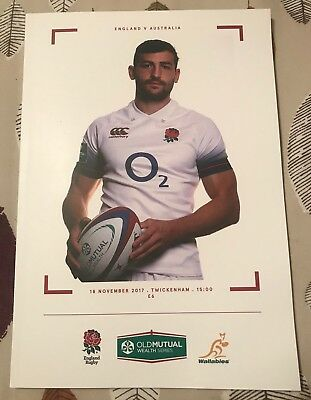 ENGLAND VS AUSTRALIA 2017 TWICKENHAM OLD MUTUAL WEALTH *NEW PROGRAMME*