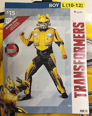 Transformer Dress Up (Halloween Dress Up Transformers Bumblebee Costume Boys Jumpsuit Large 10-12)