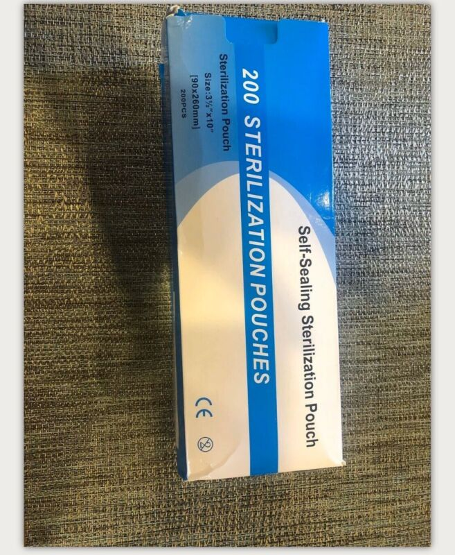 "Self-sealing Sterilization Pouch Bag, 3.5"" X 10"" Paper/blue Film (box Of 200)"