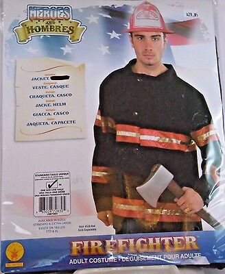 Men's Size XL Fireman Jacket Cosplay Halloween Costume Office College Party  ](College Halloween Costumes For Men)