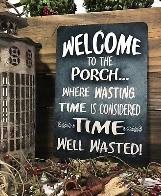 Welcome To Our Porch Sign - Welcome Metal Sign - Home Decor - Farmhouse Sign