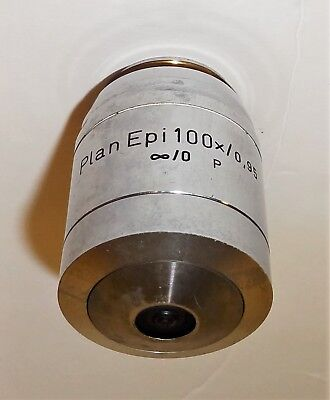 Plan Epi 100X Strain Free Objective For Reichert Univar Or Polyvar Microscope