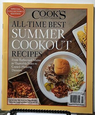 Cooks Illustrated All Time Best Summer Cookout Recipes 2018 FREE SHIPPING