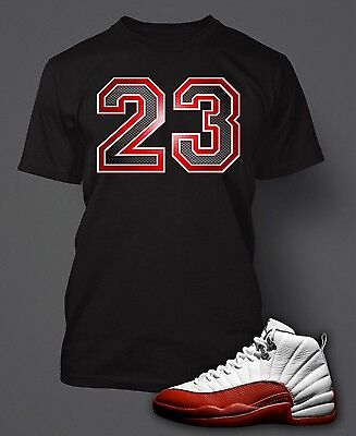 23 Tee Shirt to Match Jordan 12 Varsity White Red Shoes Graphic T Big Tall Small](Varsity Tees)