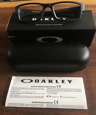 Oakley AIRDROP Satin Black Eye Glasses Prescription 53-18-143 RX OX8046