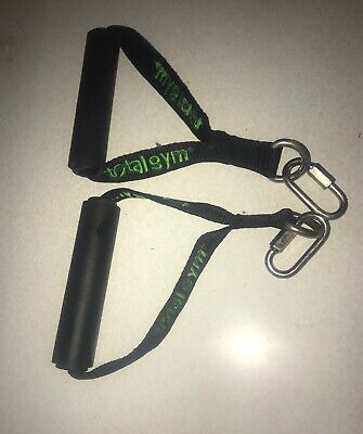 Total Gym Web Handles with Lime Green Lettering