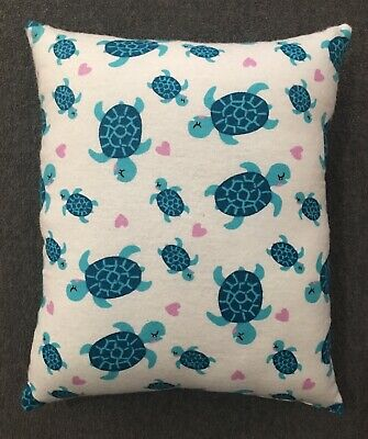 "Beautiful Handmade Sea Turtle Accent - Throw Pillow 11"" x - Sea Turtle Pillow"