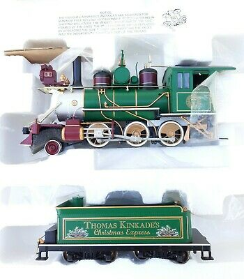 Hawthorne Village Thomas Kinkade Christmas Express Train Set #1 - 9 Bachmann