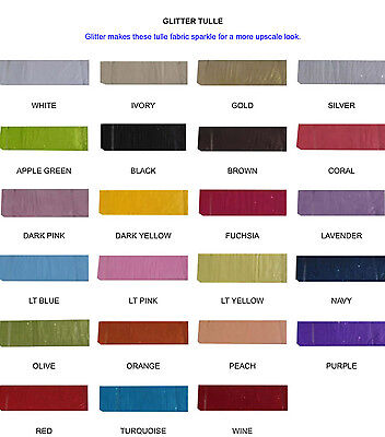 GLITTER Tulle Fabric Bolt 54