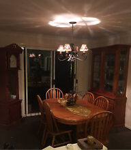 Dining table, led light display unit and grandfather clock Wellington Point Redland Area Preview