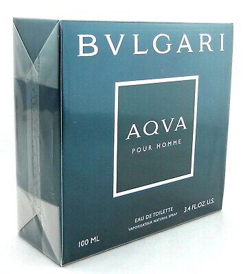 Bvlgari Aqva Pour Homme by Bvlgari 3.4 oz EDT Spray for Men Sealed (Bvlgari For Men)