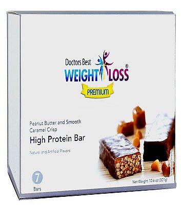 Doctors Best Diet Premium - Peanut Butter and Smooth Caramel Crisp Protein Bar -