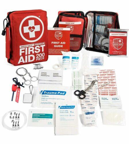 Swiss Safe 200 Piece Professional First Aid Kit Home Car Work Medical Supplies