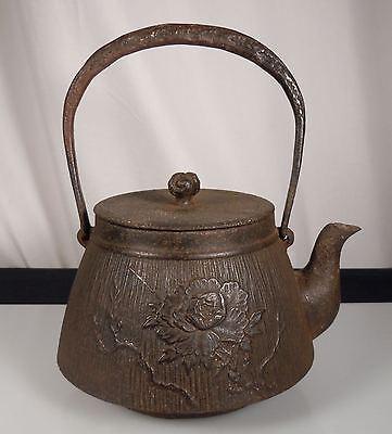 Antique Japanese Tetsubin Cast Iron Teapot Kettle