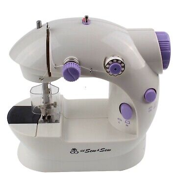 Mini Portable Beginner Sewing Machine 2-Speed Double Thread, Easy DIY Face Masks