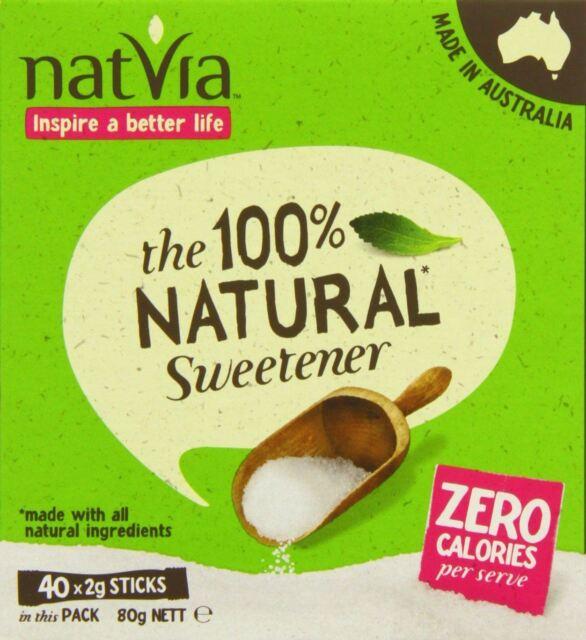 40 Sticks - contains Stevia - NATVIA