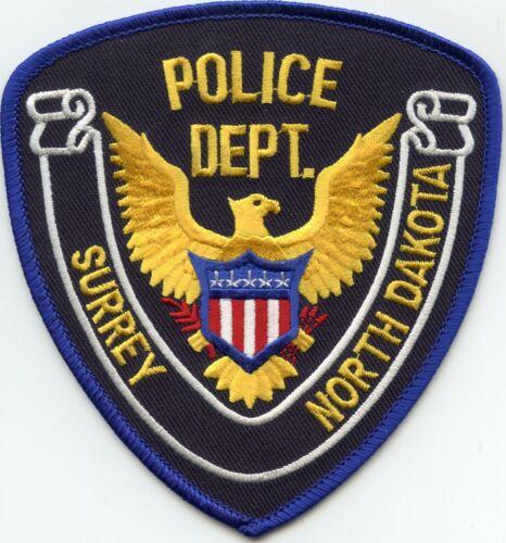 SURREY NORTH DAKOTA ND Stock Eagle Style POLICE PATCH