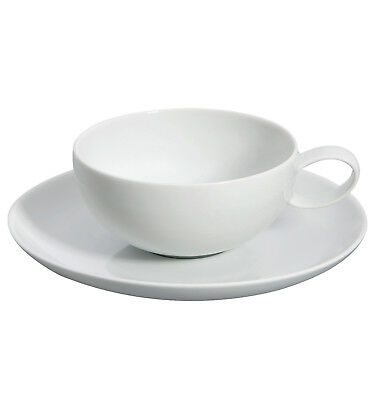 Vista Alegre Domo White Breakfast Cup & Saucer - Set of 8 White Breakfast Cup