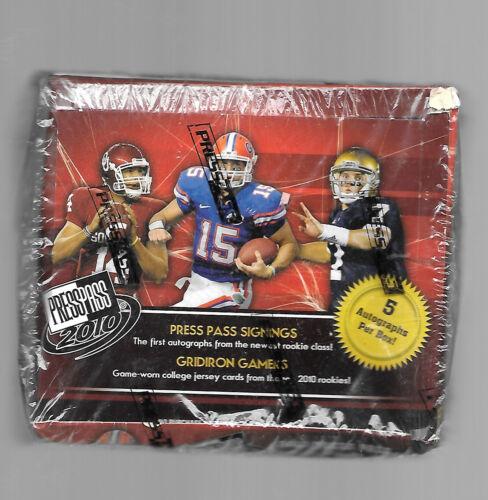 2010 Press Pass Football Hobby Box - Factory Sealed!
