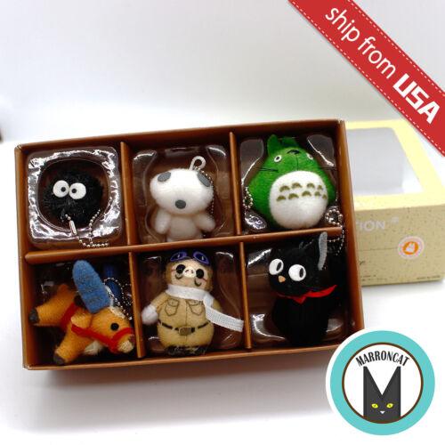 Japan Mini Studio Ghibli Collection Charm Mascot Plush Totoro Jiji Marco Pagot