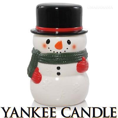 Yankee Candle SNOWMAN Jar Candle Holder ❄️NEW❄️ Medium / Large COOKIE JAR