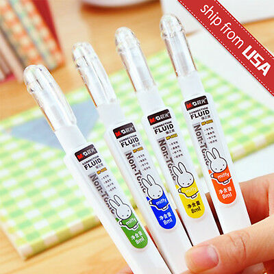 Lot 4pcs Mg Miffy Liquid Paper Correction Fluid Cute White Out Stationery Cute