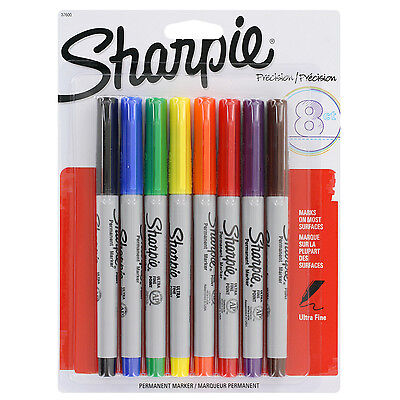 Sharpie Precision Permanent Markers Ultra Fine Point Assorted Pack Of 8