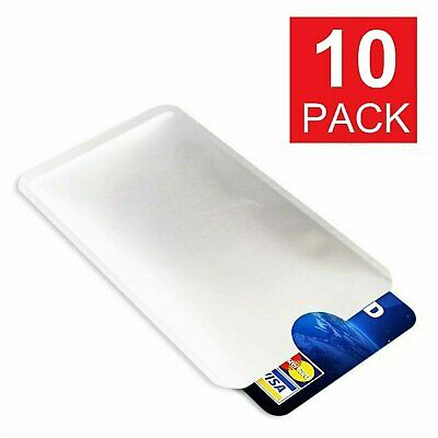 10 pcs Credit Card Protector Secure Sleeves RFID Blocking ID Holder Foil Shield Passport & ID Holders