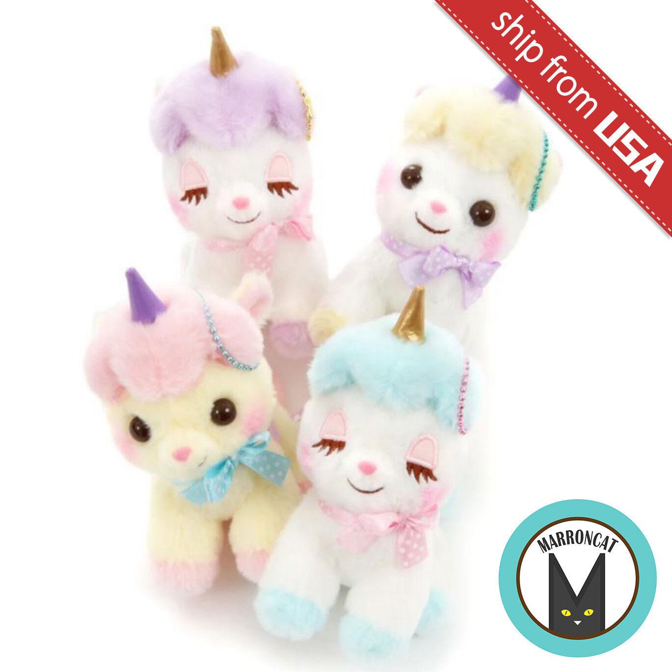 Japan Amuse Unicorn no Cony Plush Ball Chain Soft Toy Mascot