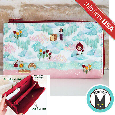 Japan Q-lia Fairy Tale Little Red Riding Hood Embroidered Wallet Bag Purse Cute](Red Riding Hood Purse)